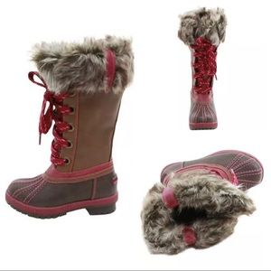 London Fog Girl Melton Boots